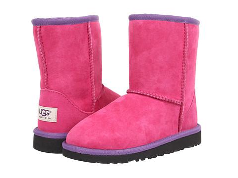 UGG Kids - Classic Short Multi (Little Kid/Big Kid) (Red Violet Multi) Girls Shoes