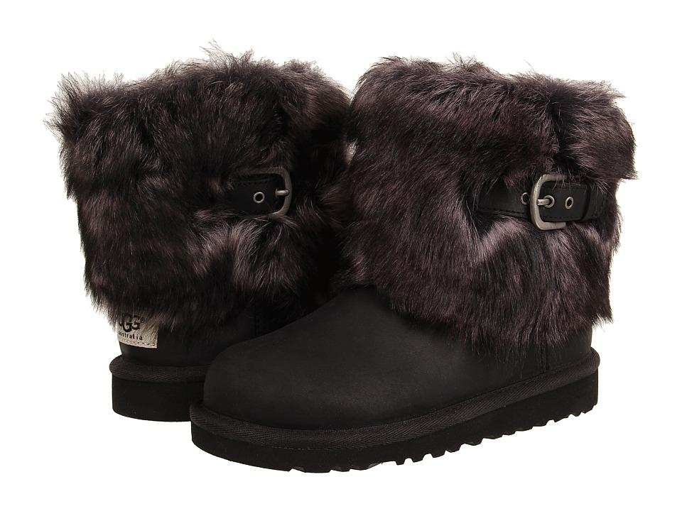UGG Kids - Ellee Leather (Toddler/Little Kid/Big Kid) (Black) Girls Shoes