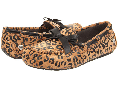 UGG Kids - Ryder Leopard (Toddler/Little Kid/Big Kid) (Chestnut) Girls Shoes