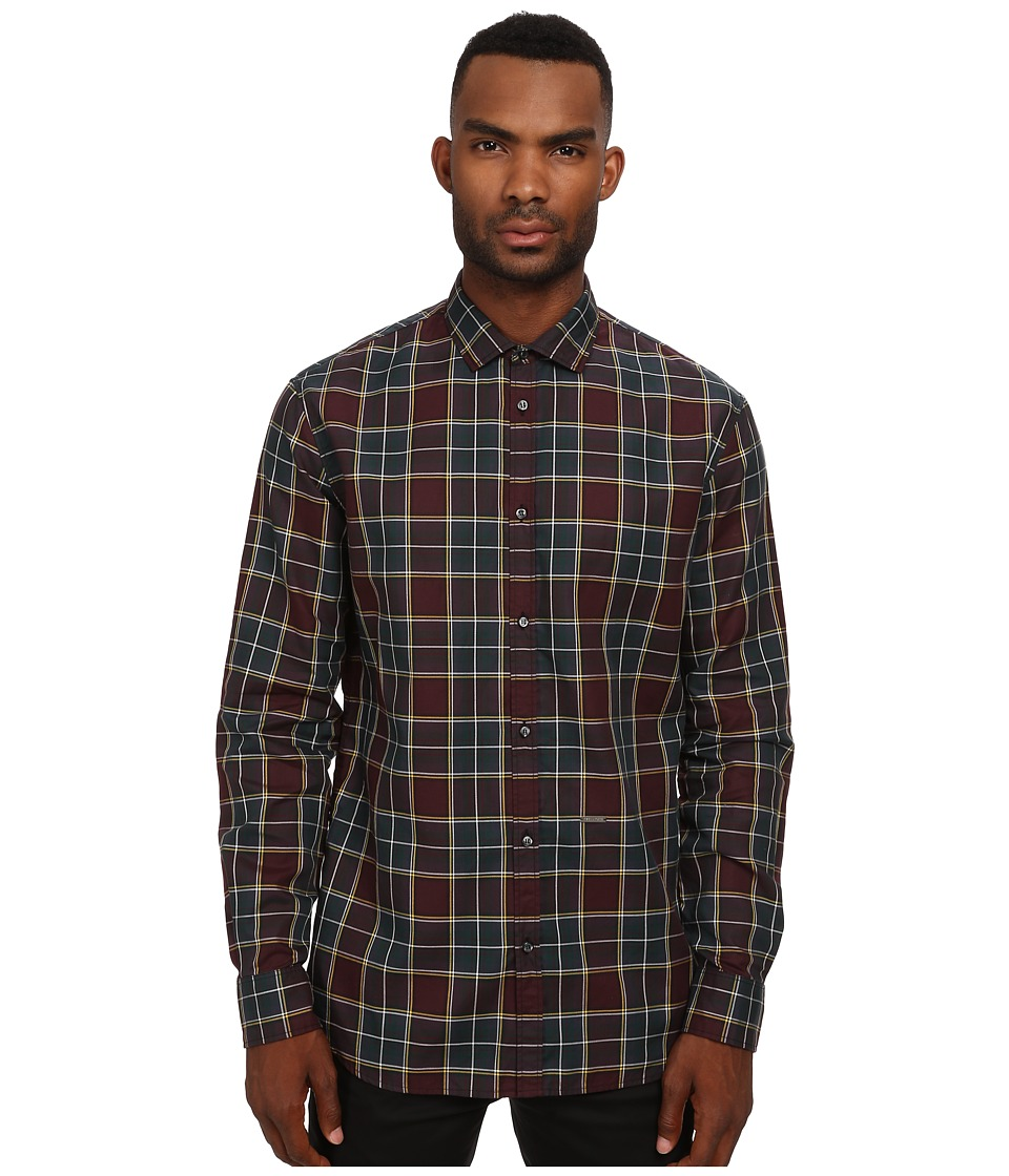 DSQUARED2 - Checks Cotton M. B. Button Up Shirt (Multi) Men's Long Sleeve Button Up