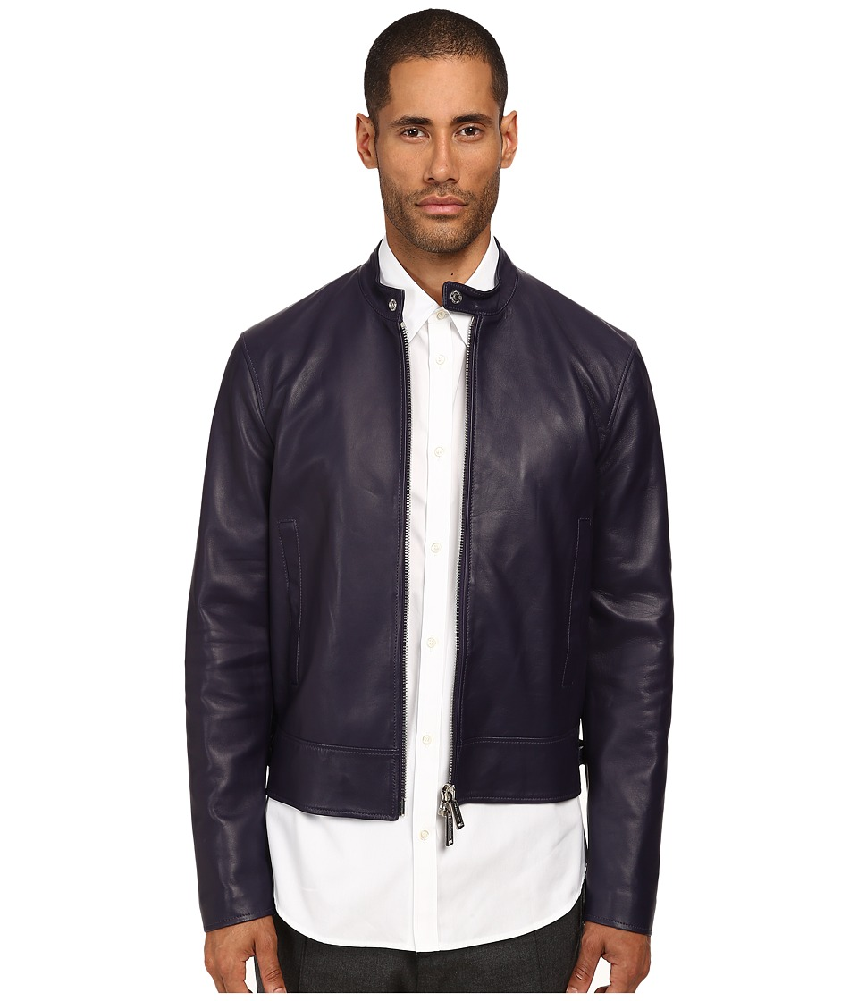 DSQUARED2 - Leather Biker Jacket (Violet) Men's Coat