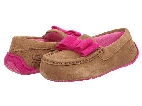 UGG Kids - Rosea Bow Wool (Toddler/Little Kid/Big Kid) (Chestnut) Girls Shoes