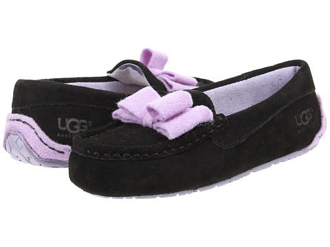 UGG Kids - Rosea Bow Wool (Toddler/Little Kid/Big Kid) (Black) Girls Shoes