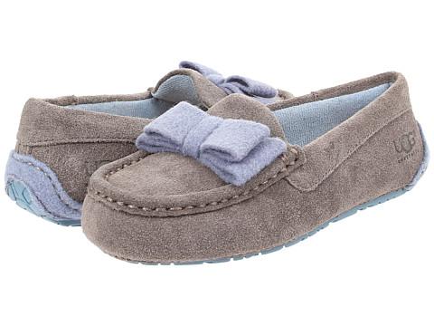 UGG Kids - Rosea Bow Wool (Toddler/Little Kid/Big Kid) (Grey) Girls Shoes