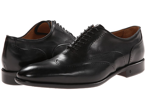 John Varvatos - Madison Perf Wingtip (Black) Men