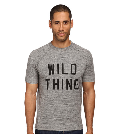 DSQUARED2 - Wild Thing Short Sleeve Sweatshirt (Dark Grey Melange) Men's Sweatshirt