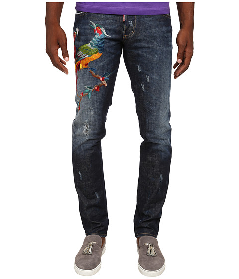 DSQUARED2 - Rookie Wash Slim Jeans (Blue) Men's Jeans