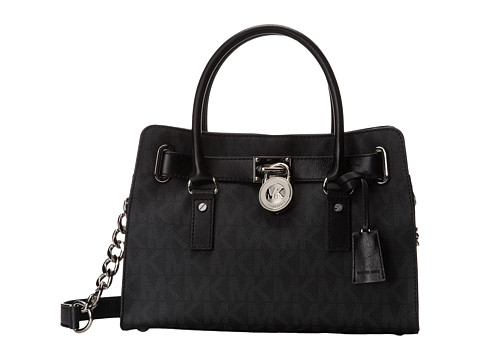 MICHAEL Michael Kors - Hamilton East/West Satchel (Black) Satchel Handbags
