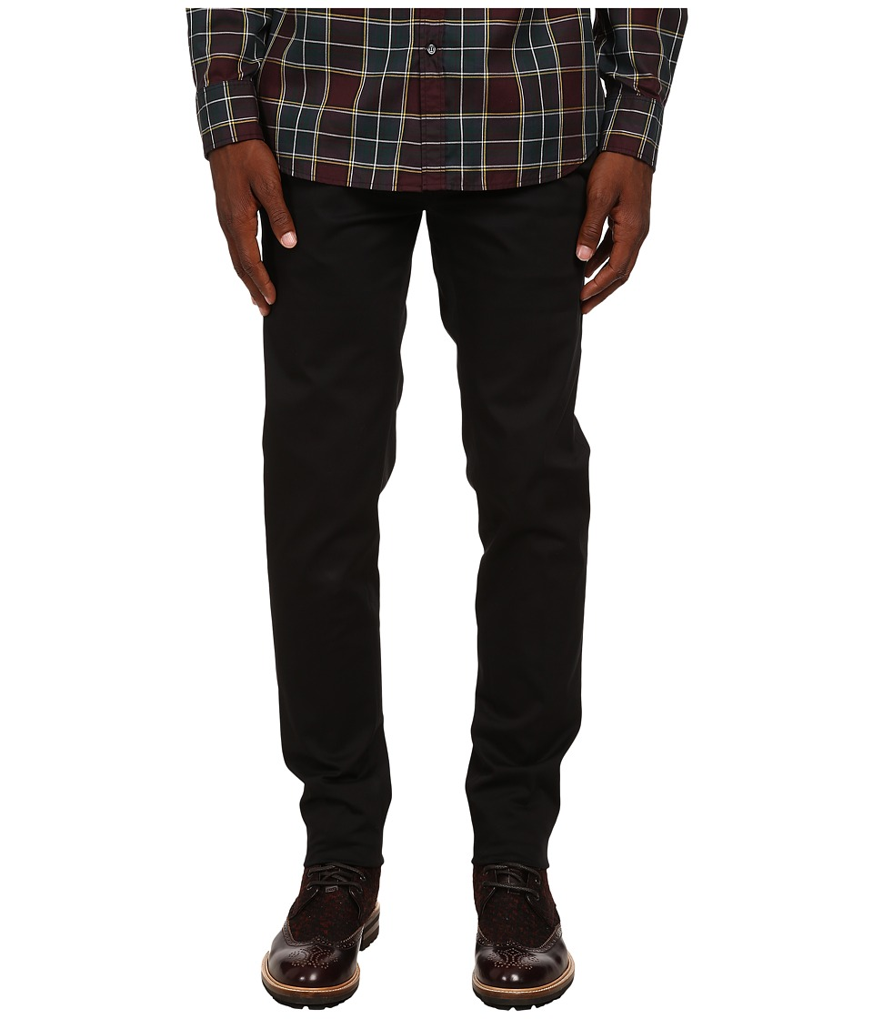 DSQUARED2 - Tokyo Stretch Cotton Twill Pants (Black) Men's Casual Pants