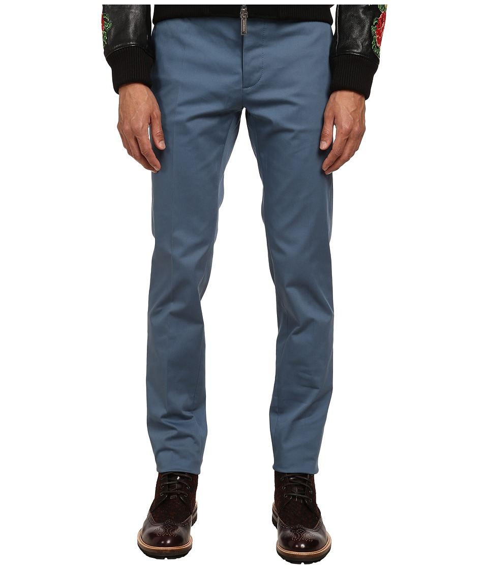 DSQUARED2 - Tokyo Stretch Cotton Twill Pants (Avio) Men's Casual Pants