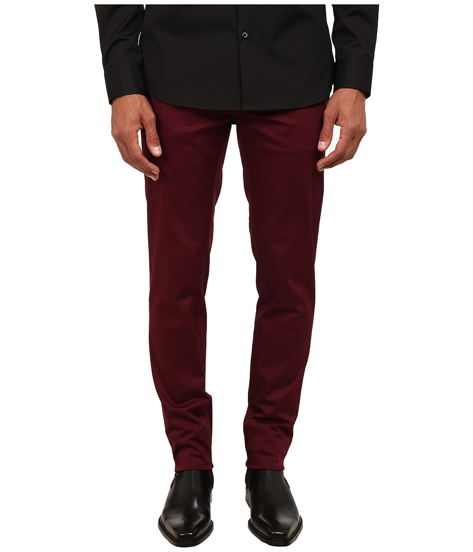 DSQUARED2 - Tokyo Stretch Cotton Twill Pants (Bordeaux) Men's Casual Pants
