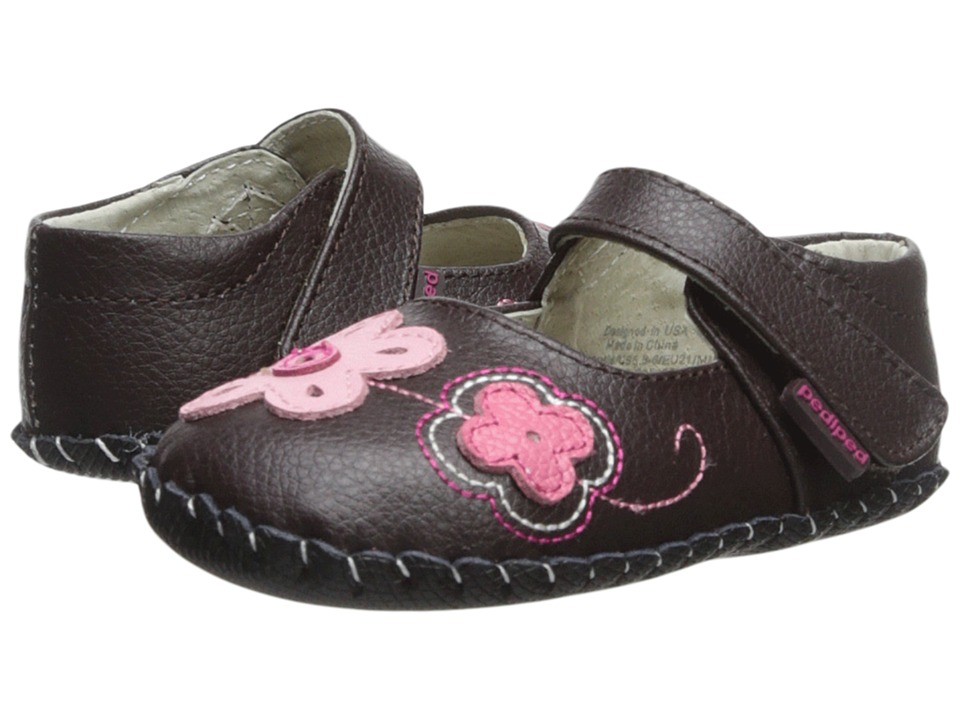 pediped - Lorraine Original (Infant) (Brown) Girl's Shoes
