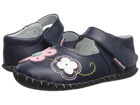 pediped - Lorraine Original (Infant) (Navy) Girl's Shoes