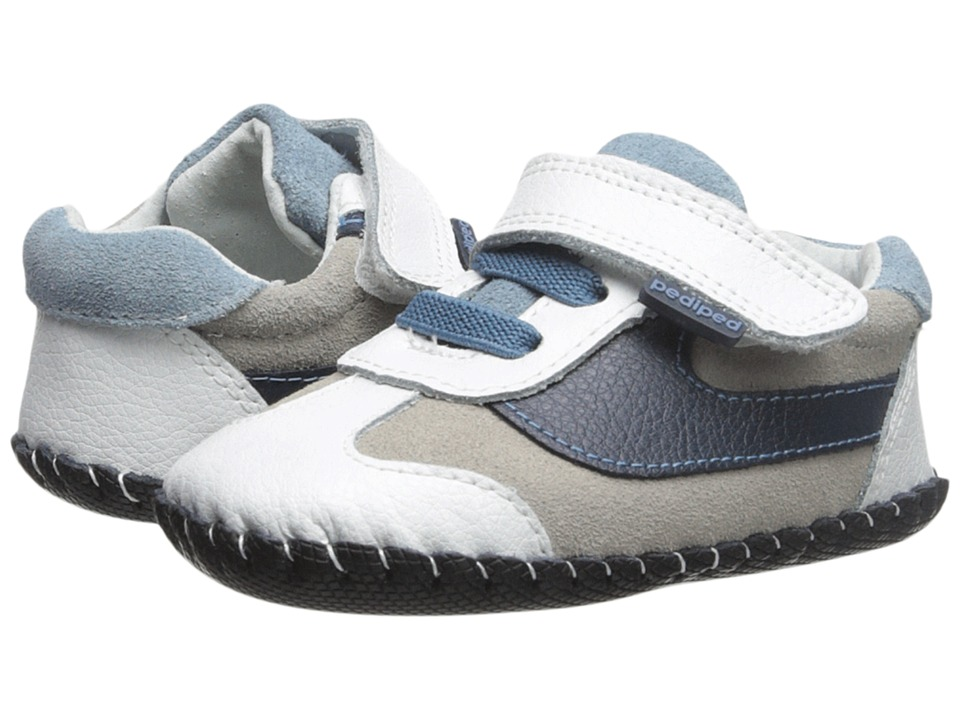pediped - Cliff Original (Infant) (White/Navy) Boy's Shoes