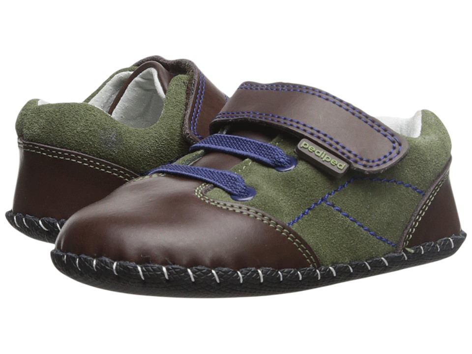 pediped - Gordon Original (Infant) (Olive) Boy's Shoes