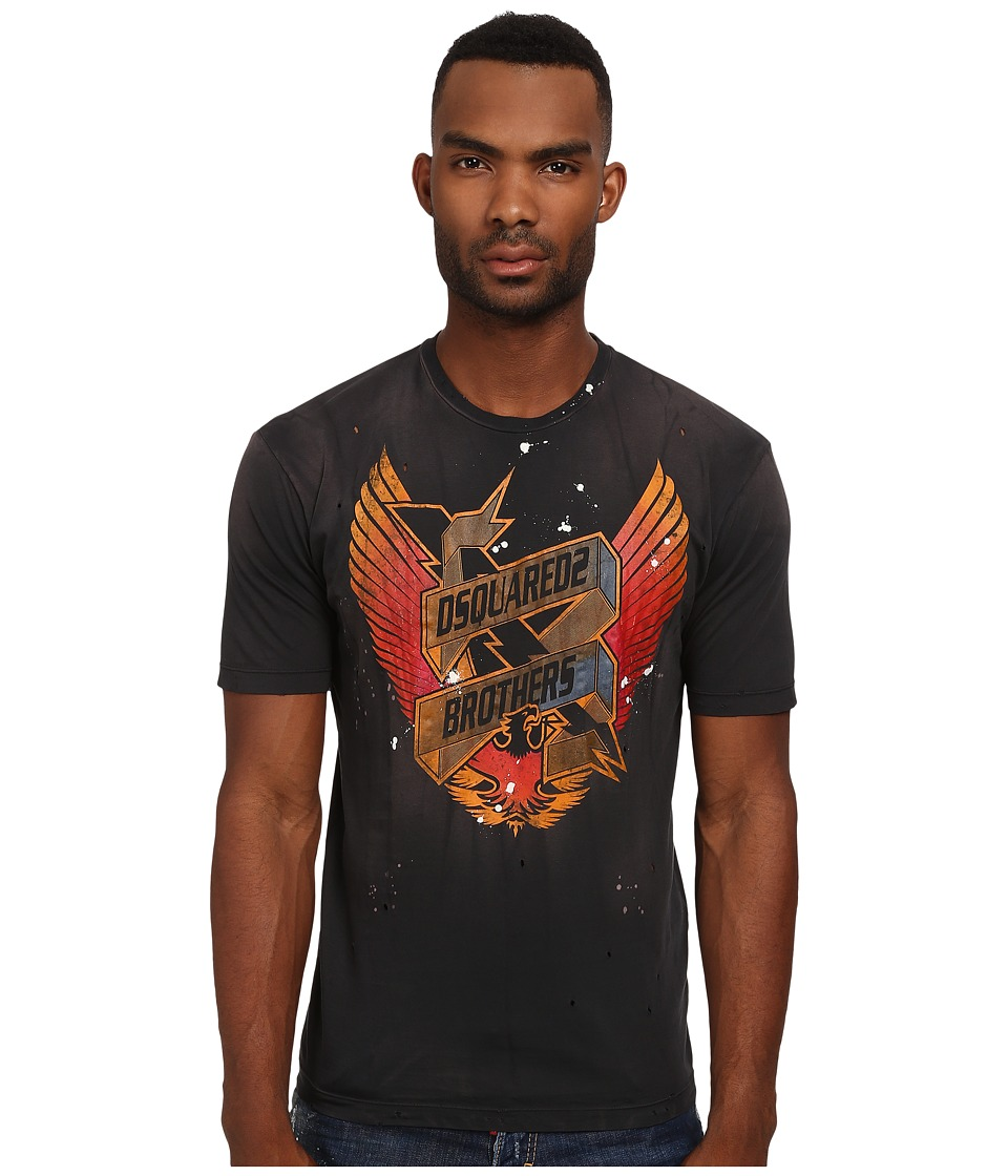 DSQUARED2 - Eagle Dan Fit Tee (Black) Men's T Shirt