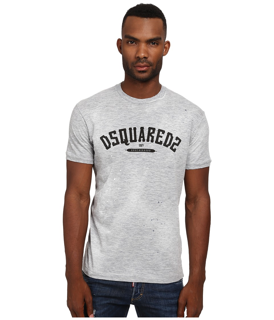 DSQUARED2 - Logo Chic Dan Fit Tee (Light Grey Melange) Men's T Shirt