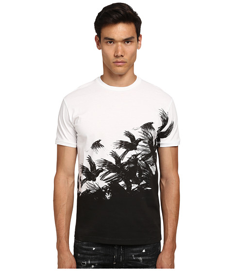 DSQUARED2 - Crow Chic Dan Fit Tee (White) Men's T Shirt