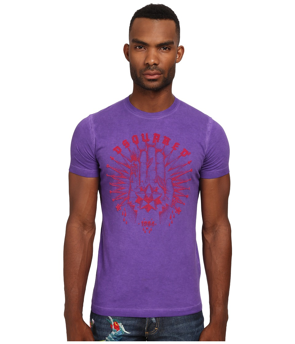 DSQUARED2 - Fortune Sexy Slim Fit Tee (Purple) Men