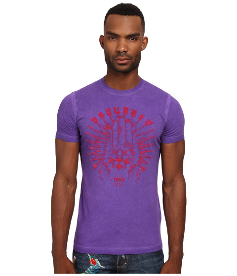 DSQUARED2 - Fortune Sexy Slim Fit Tee (Purple) Men's T Shirt
