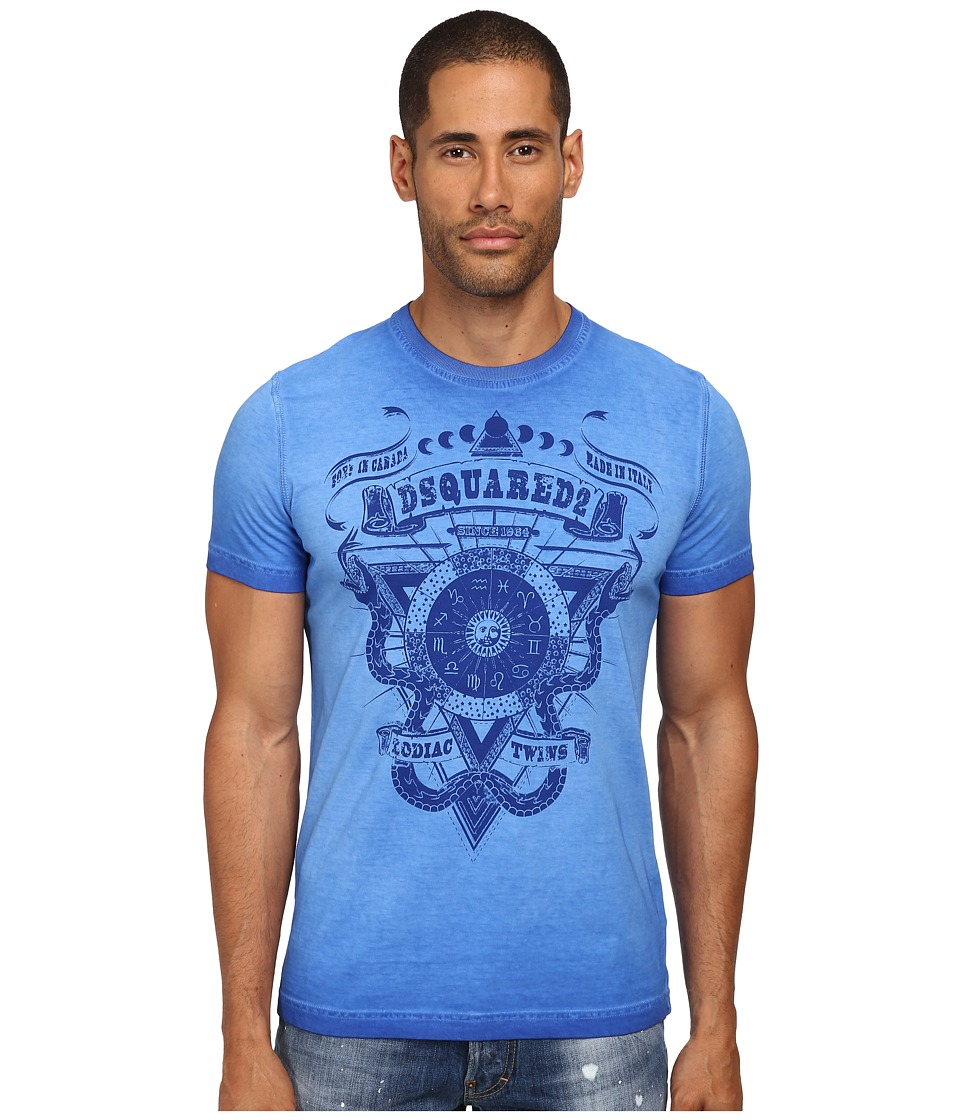 DSQUARED2 - Rocker Classic Fit Tee (Bluette) Men
