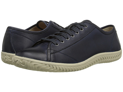 John Varvatos - Hattan Low Top (Oiled Blue) Men's Lace up casual Shoes