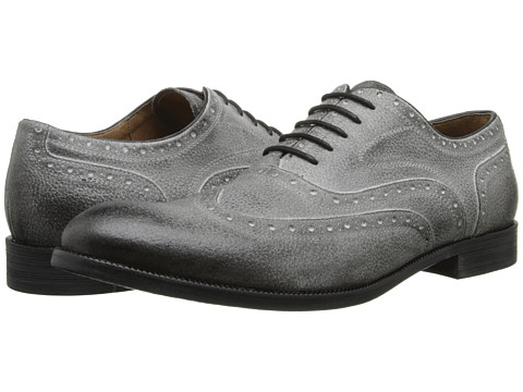 John Varvatos - Sid Brogue Wingtip (Smoke) Men