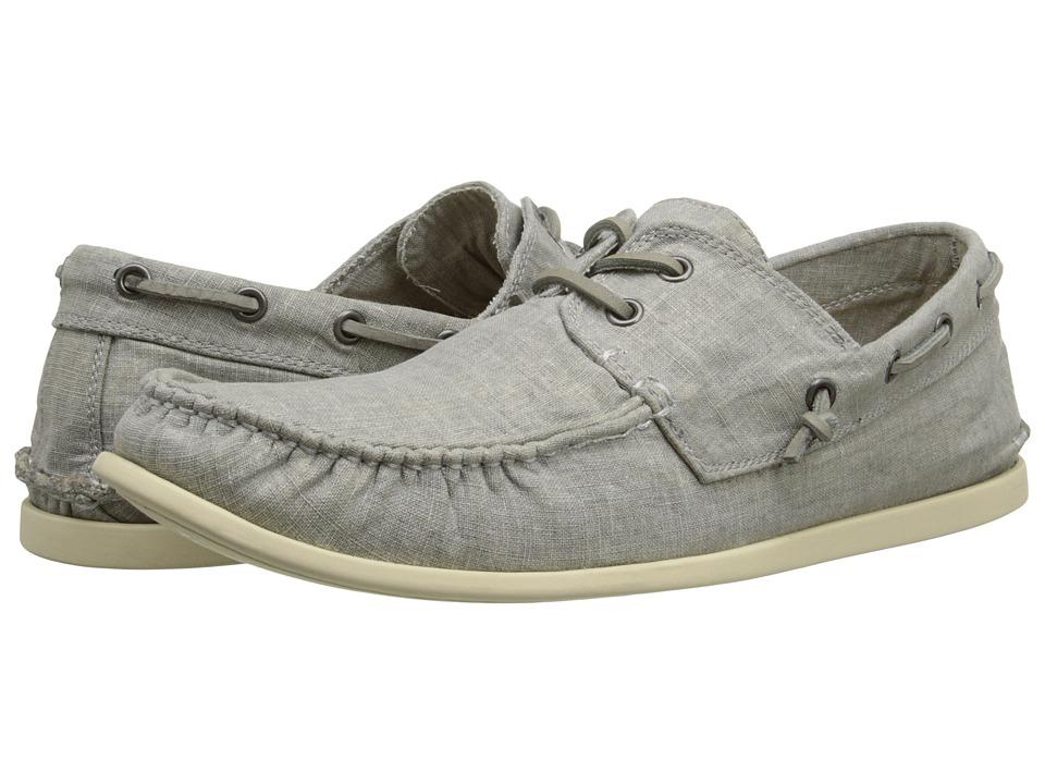 John Varvatos - Schooner Boat Shoe (Shale Grey) Men