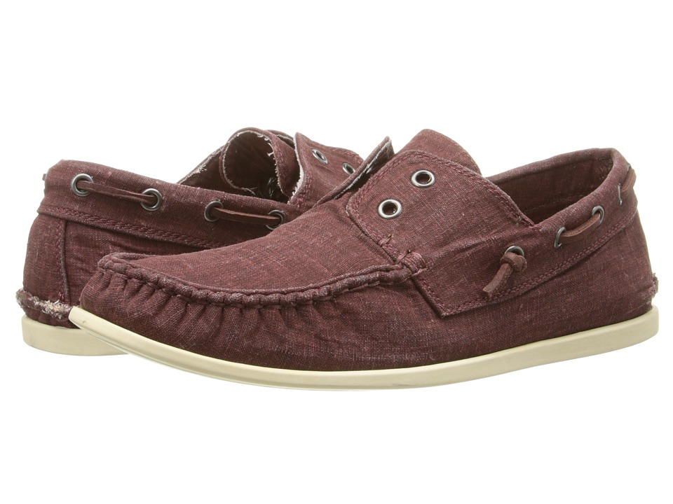 John Varvatos - Schooner Boat Shoe (Cherrywood) Men's Slip on Shoes