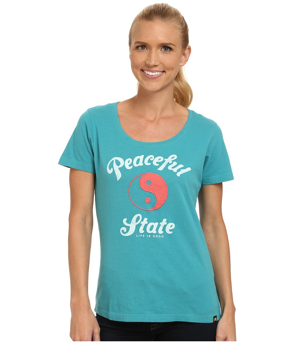 Life is good - Creamy Scoop Tee (Teal Blue) Women's T Shirt