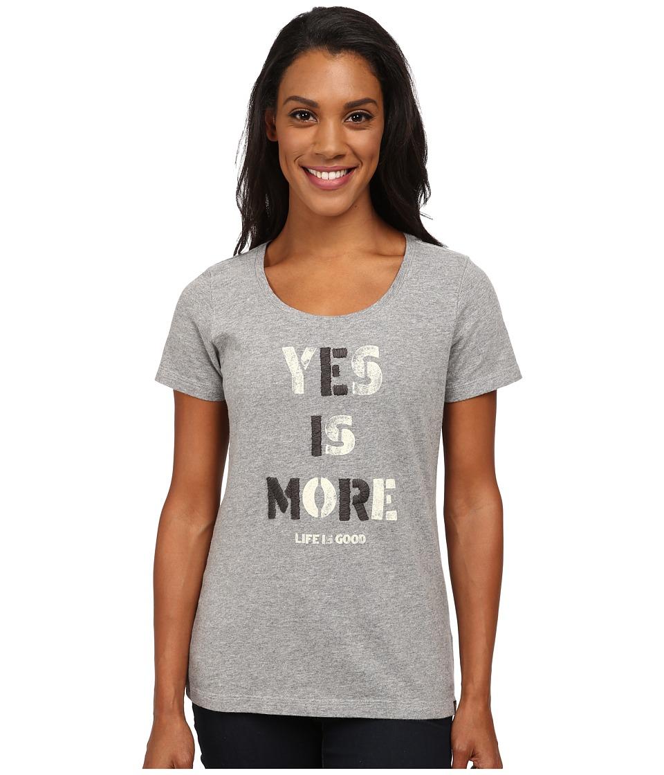 Life is good - Creamy Scoop Tee (Heather Grey 3) Women's T Shirt