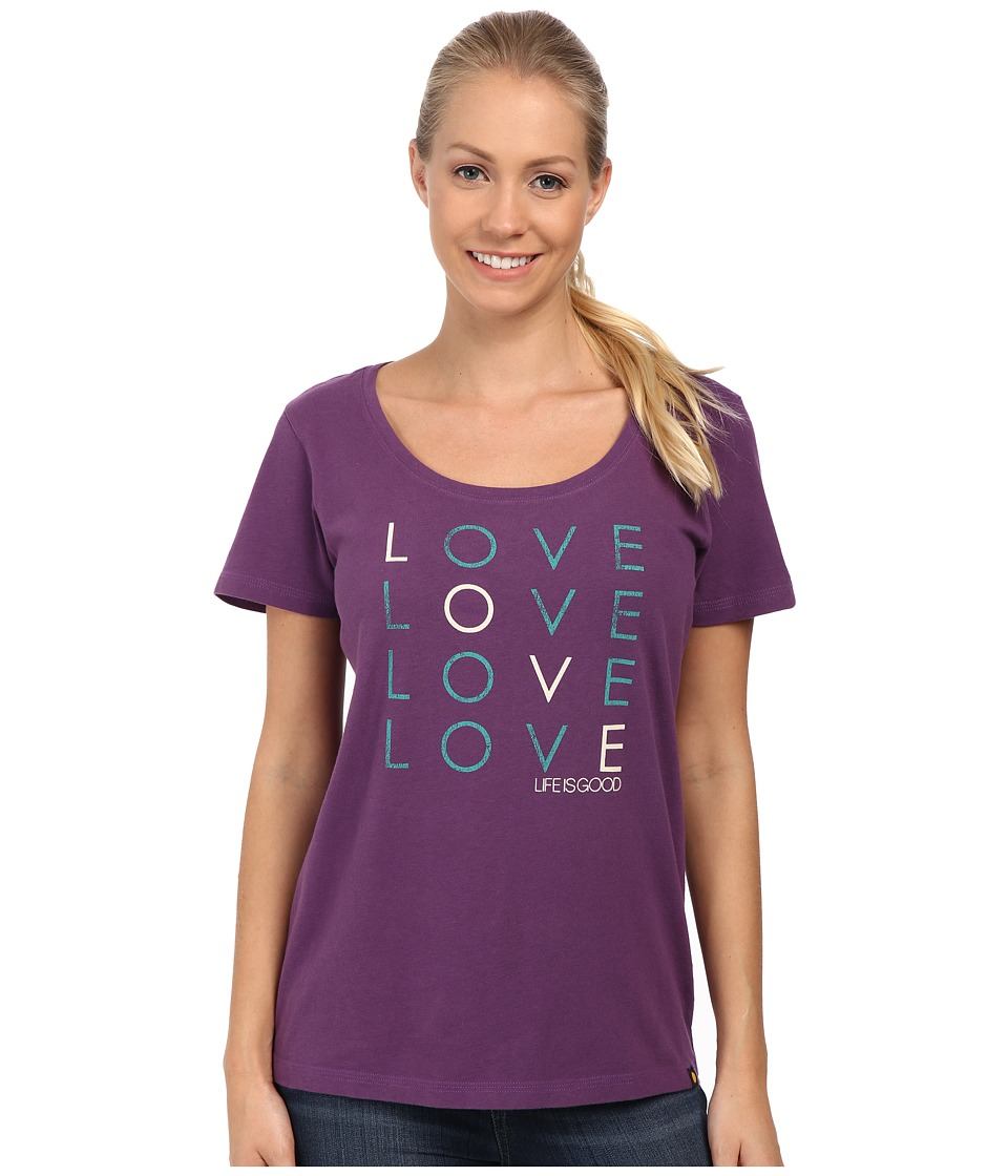 Life is good Creamy Scoop Tee (Smoky Plum) Women