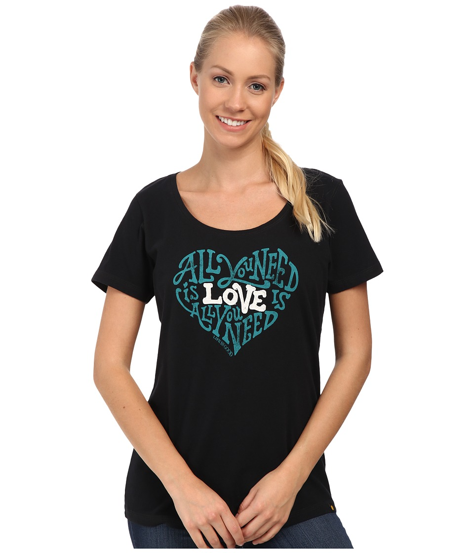 Life is good - Creamy Scoop Tee (Night Black 3) Women's T Shirt