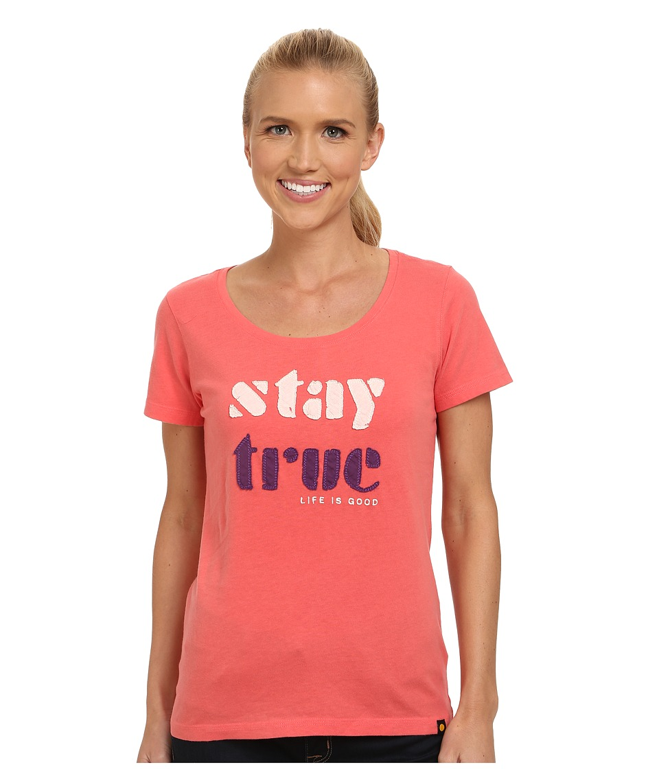 Life is good - Creamy Scoop Tee (Sunny Coral) Women