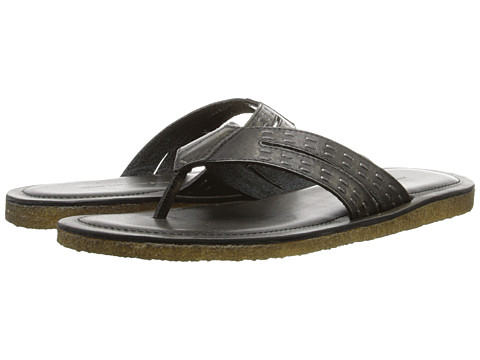 John Varvatos - Tobago Thong Sandal (Coal) Men