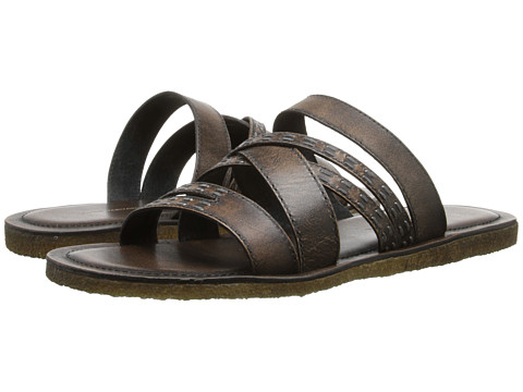 John Varvatos - Tobago Stitch Slide (Walnut) Men