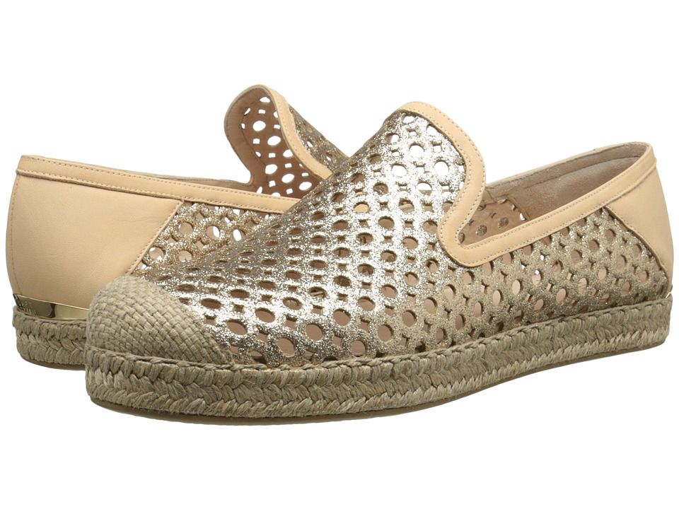 Stuart Weitzman - County (Sand Mini Glitter) Women's Slip on Shoes