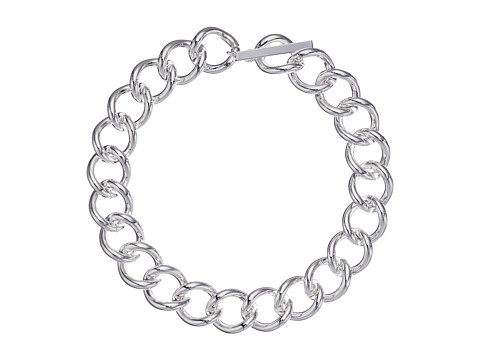LAUREN by Ralph Lauren - Silver Moon 18 Large Curb Link w/ Ring Toggle Necklace (Silver) Necklace