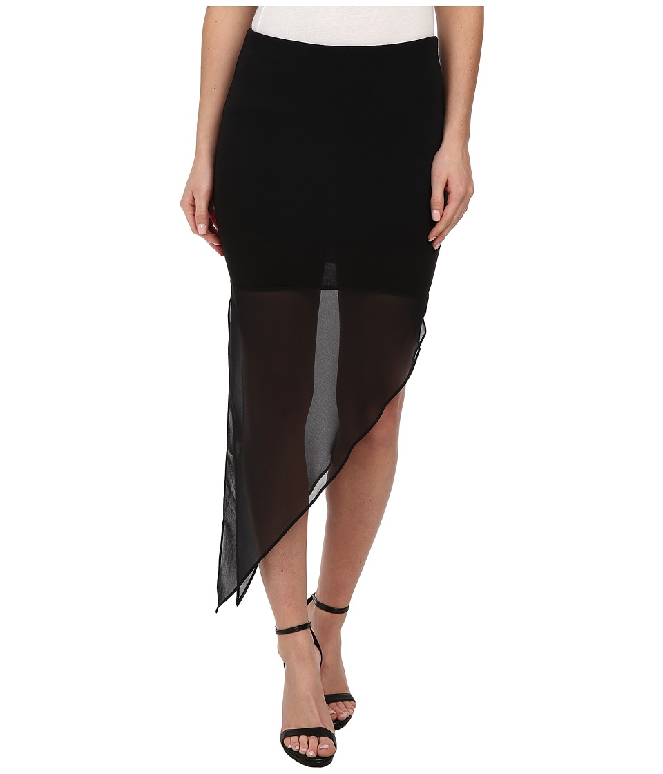 BCBGeneration - Asymmetrical Pull-on Skirt (Black) Women