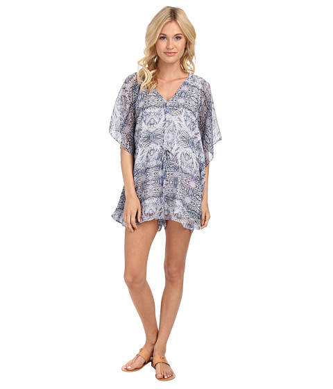 BCBGeneration - Caftan Romper (Darkwave Combo) Women's Jumpsuit & Rompers One Piece