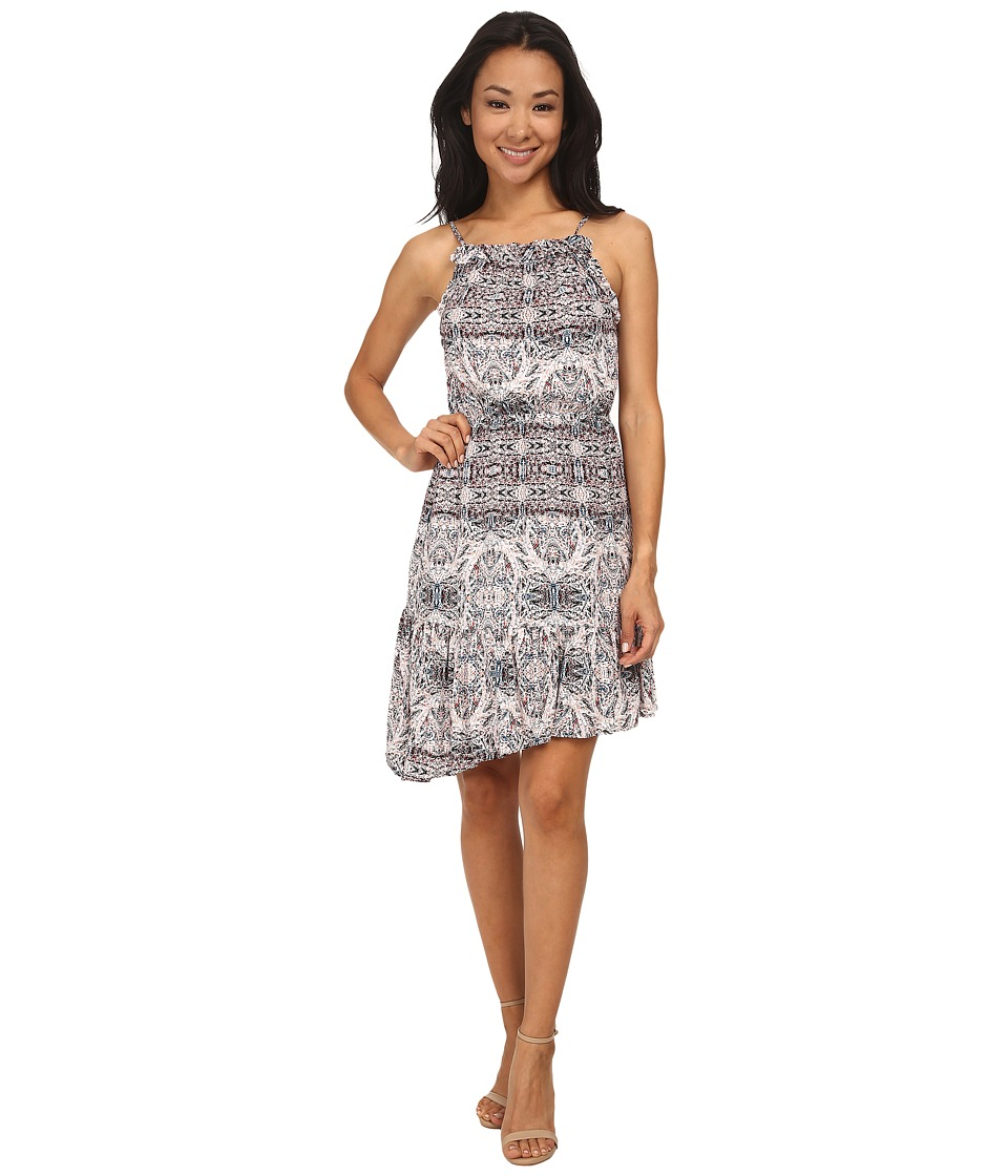 BCBGeneration - Ruffled Dress (Sea Coral Combo) Women's Dress