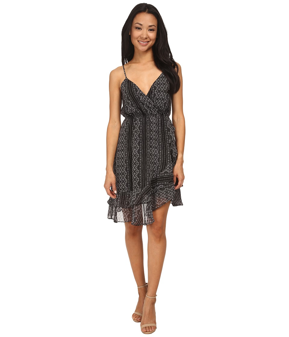 BCBGeneration Ruffle Skirt Dress (Black Combo) Women