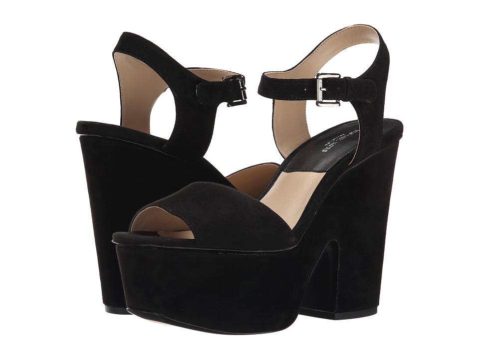 Michael Kors - Harley (Black Kid Suede) Women's Sandals