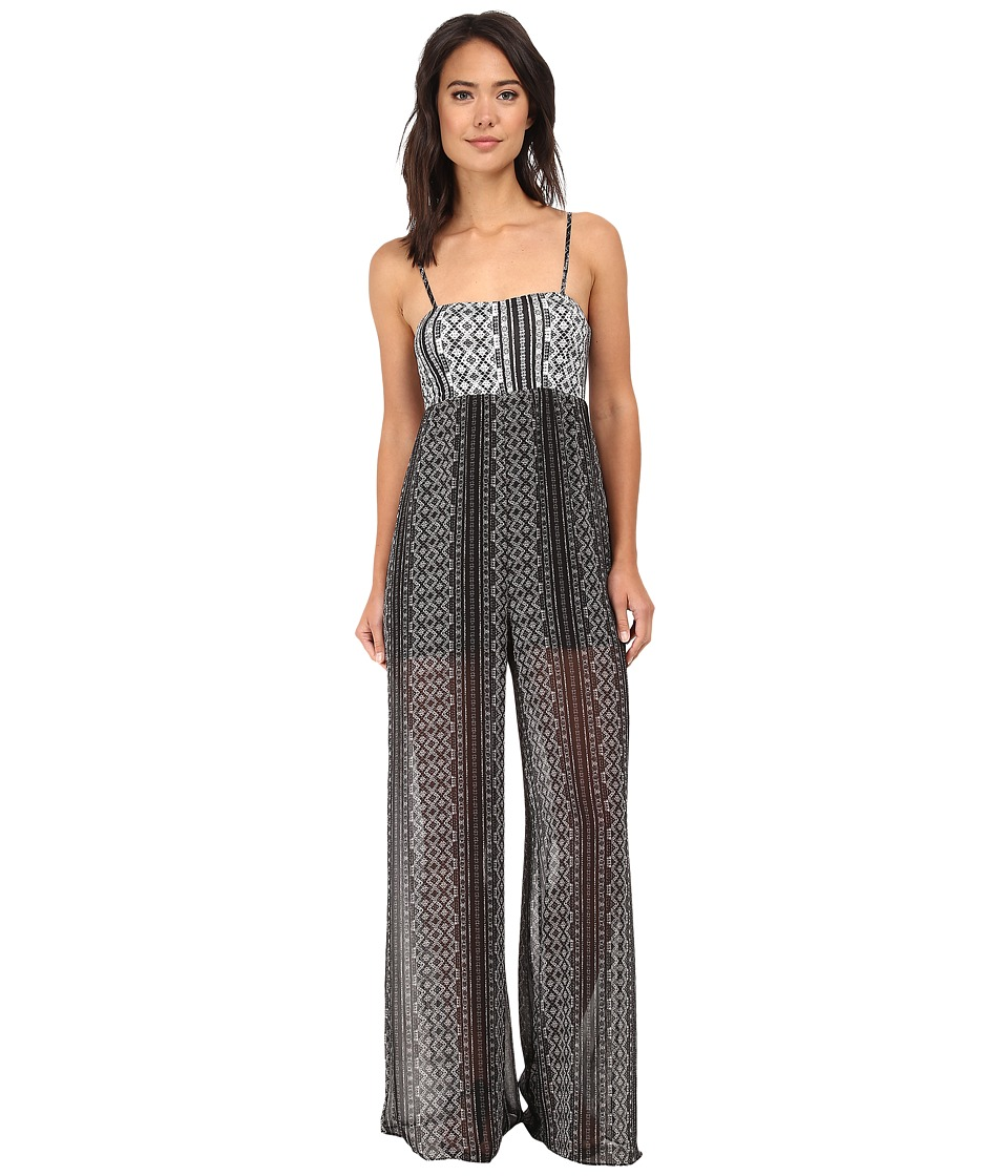 BCBGeneration - Maxi Jumpsuit (Black Combo) Women's Jumpsuit & Rompers One Piece