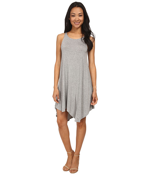 BCBGeneration - Dipped Hem Dress (Heather Grey) Women