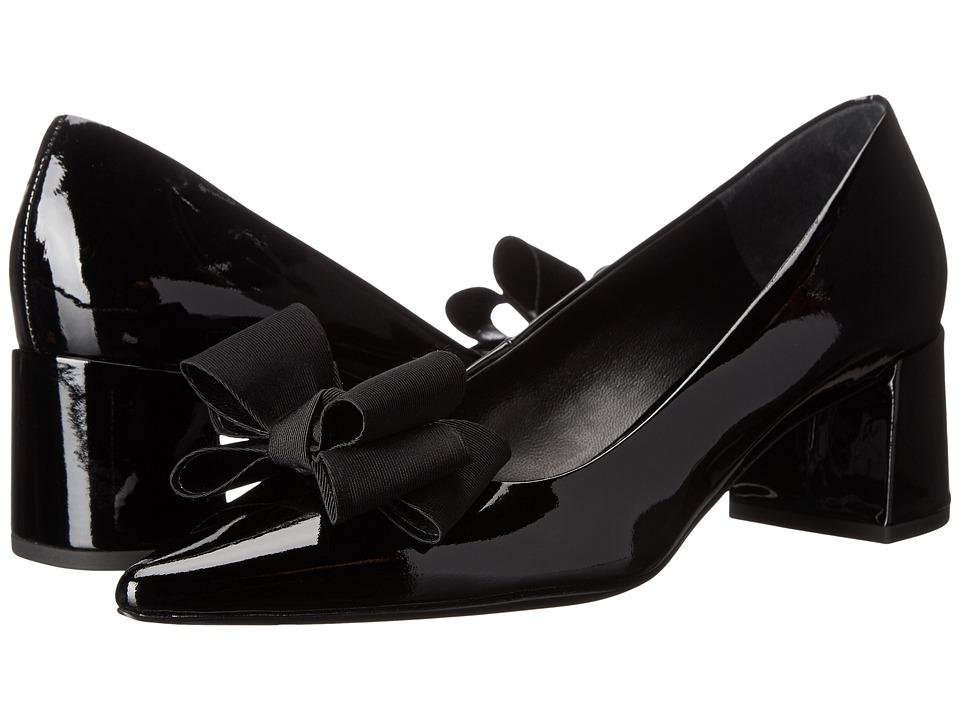 Michael Kors Marlow Runway (Black Patent/Grosgrain) High Heels
