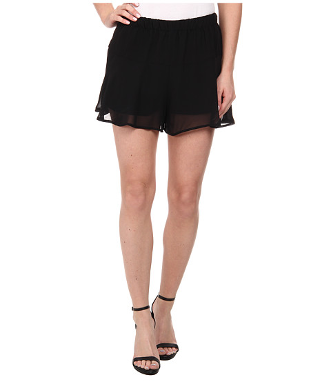 BCBGeneration - Flirty Volume Shorts (Black) Women's Shorts