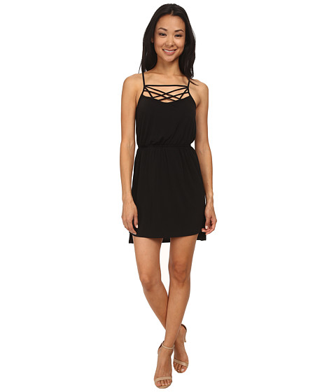 BCBGeneration - Neckline Detail Dress (Black) Women