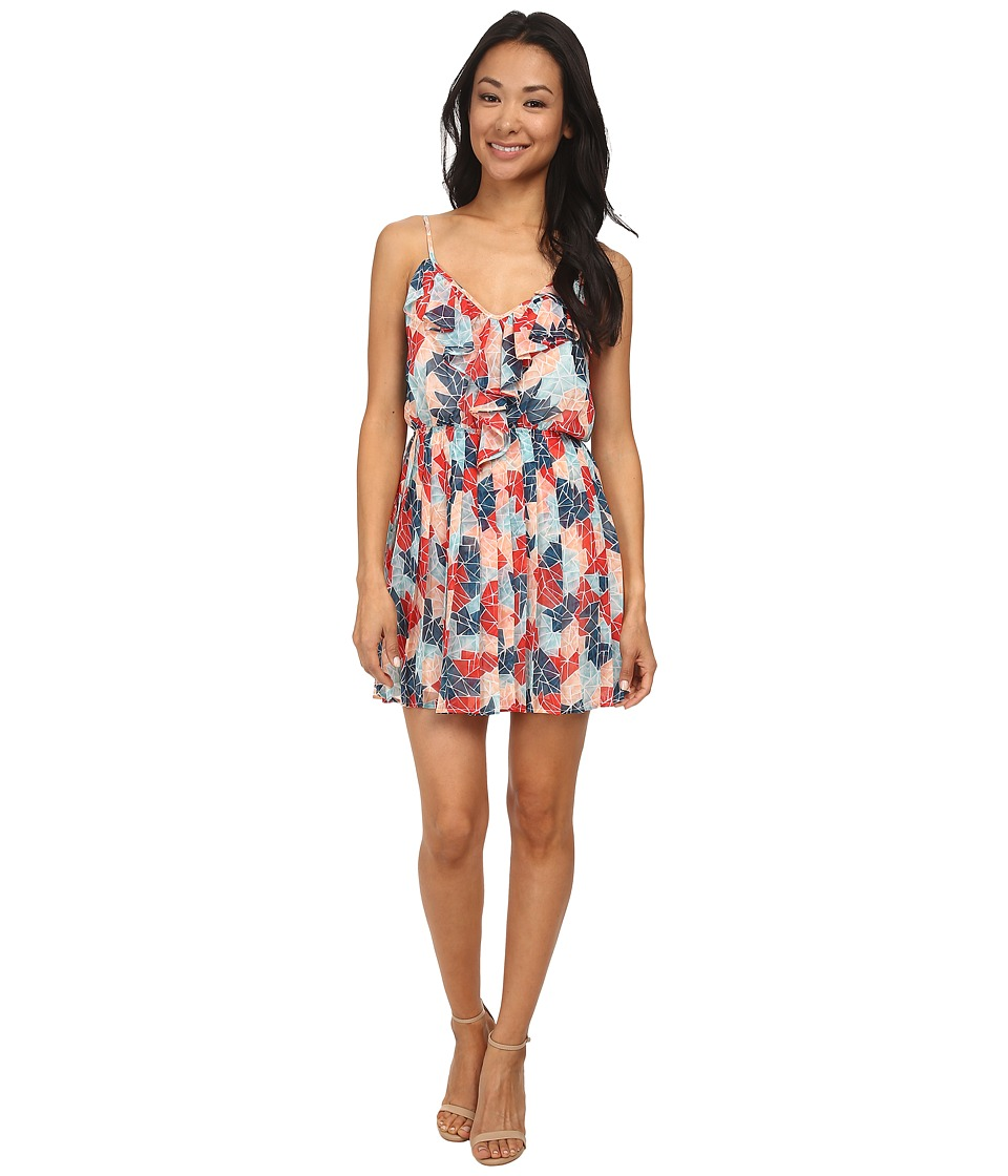 BCBGeneration - Pleat Dress (Sea Coral Combo) Women's Dress