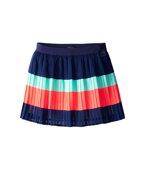 Tommy Hilfiger Kids - Color Block Pleated Chiffon Skirt (Big Kids) (Med Navy) Girl's Skirt